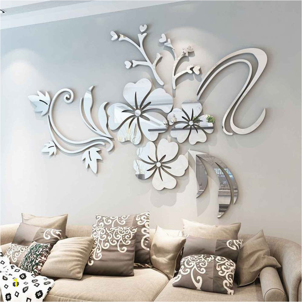 Mirror Murals Walls Details About 3d Mirror Flower Removable Wall Sticker Art Acrylic