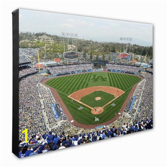 """Los Angeles Dodgers 16"""" x 20"""" Dodger Stadium Stadium Canvas"""