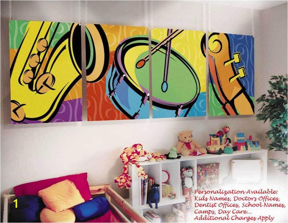 Kids Childrens Wall Murals Art Music Theme