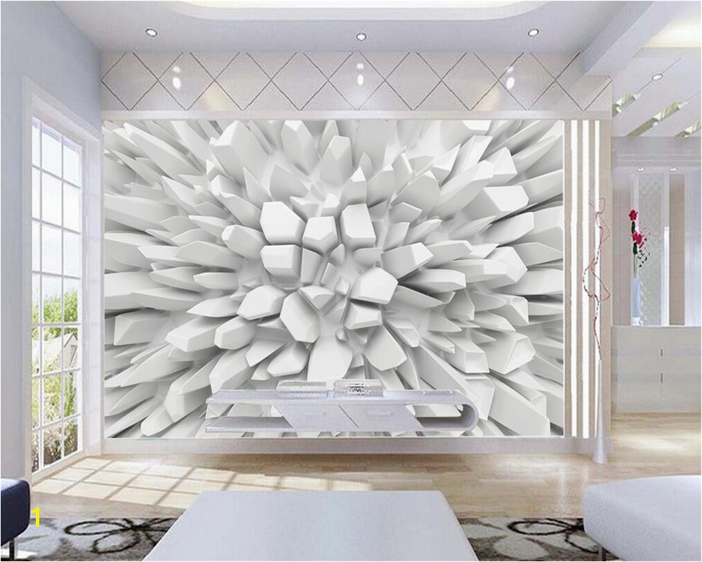 Beibehang White 3d Radiant Stone Wallpaper Custom Wall mural Modern Art Painting HD mural 3d Living Room TV 3d Wallpaper