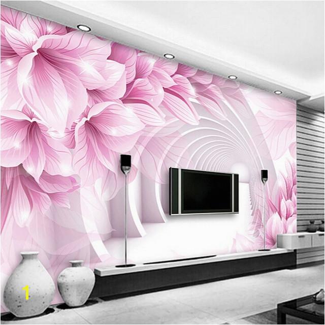 Custom Wall Mural Wallpaper Modern Minimalist 3D Stereo Space Flower Pattern TV Backdrop Living Room Bedroom Wallpaper Murals 3D