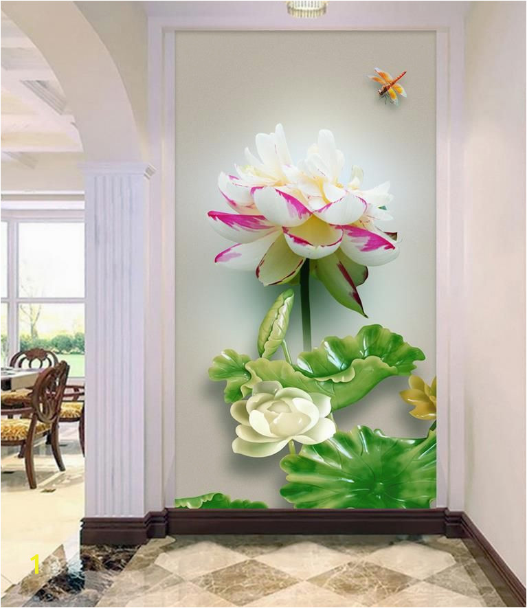 Landscape wallpaper murals Simple relief flower 3d wallpaper modern for living room murals Home Decoration
