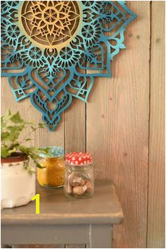 Wood Wall Art Wall Decor Housewarming Gift Moroccan Decor Bedroom Wall Art Geometric Decor Yoga Gifts Boho Wall Art Meditation Art
