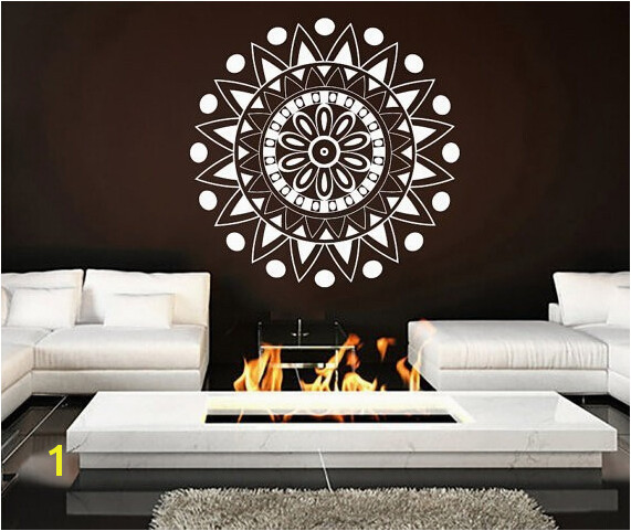 Mural Mandala Ornament Indian Geometric Moroccan Pattern Yoga Namaste Lotus Flower Om Wall Sticker Vinyl wall Decal Home Decor