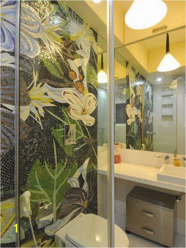 Картинки по запросу оформРение зеркаРа Bathroom Mural Mosaic Bathroom Mosaic Wall Mosaic Tiles