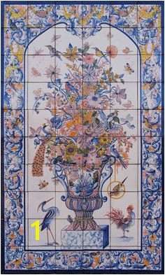 Tile murals spanish tile victorian tile decorative tile ceramic tile Ceiling Murals
