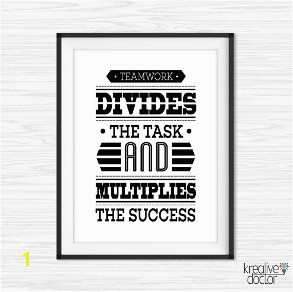fice Wall Art Teamwork Quotes Printable Success Quotes Motivational Wall Decor Inspirational Quote