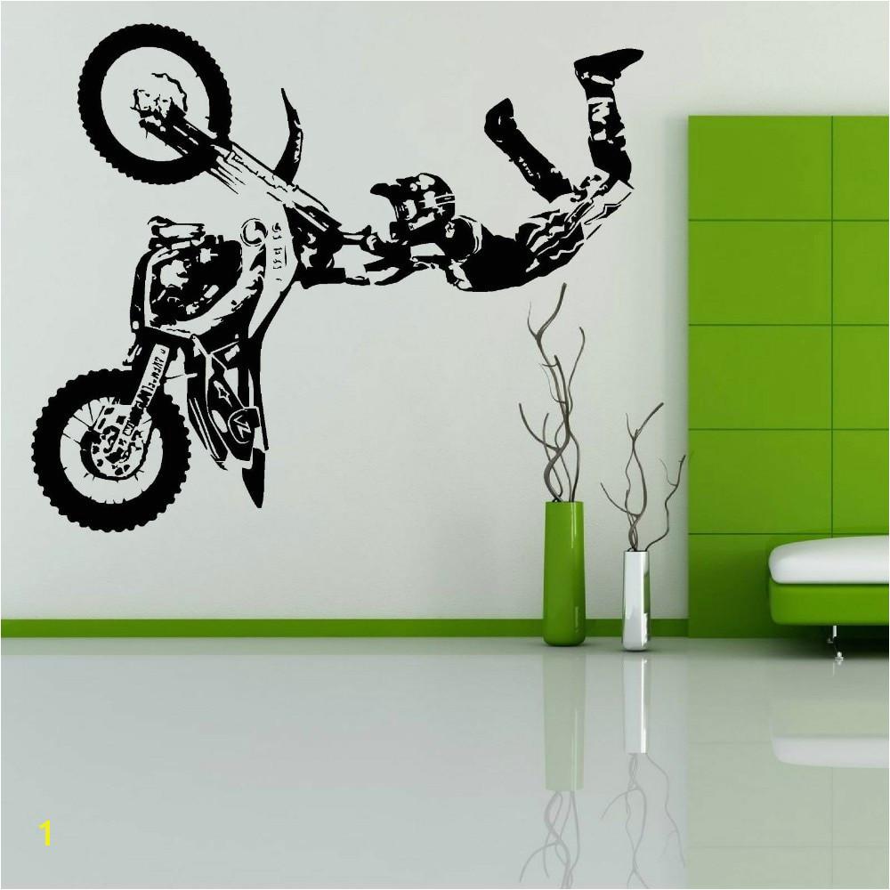 Motocross Wall Murals Free Shipping Stunt Bike Motorbike X Games Mx Motorcross Dirt Bike