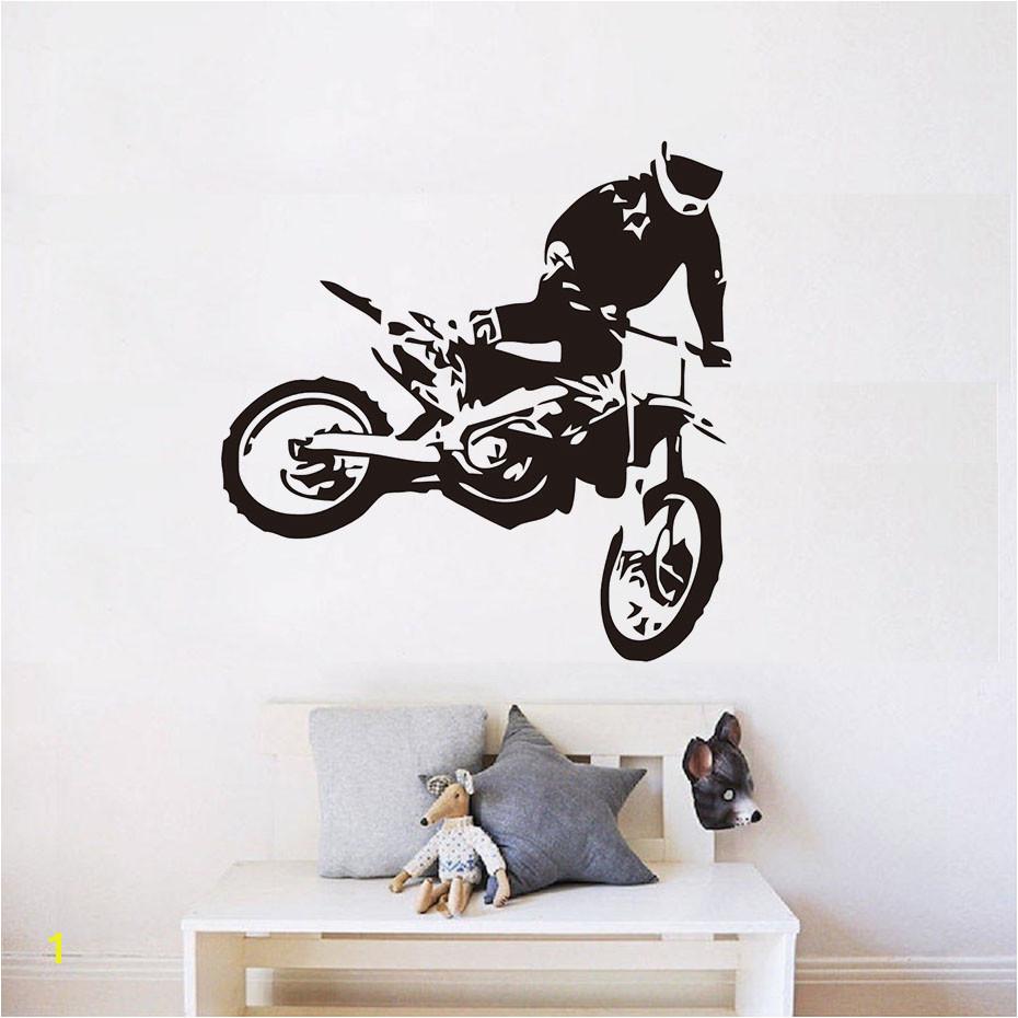 Motocross Wall Murals Motocross Moto Dirty Bike Motorbike Wall Art Sticker Decal Home Diy