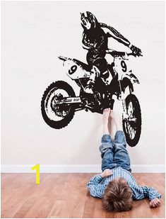 Dirt Bike Wall Decal Motocross Wall Sticker Motorsport Motor Bike Wall Mural Decor Motorcycle Racing Room Decor se166
