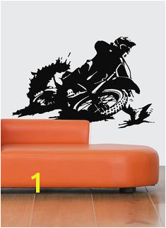 Motocross Wall Decal Dirt Bike Wall Sticker Motocross Supercross Wall Mural Decor Motorcycle Racing Room Decoration Art Enduro Bike se164