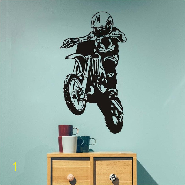 Motocross Wall Murals Motocross Wall Stickers 3d Hollow Out Motorcycle Vinyl Adhesive