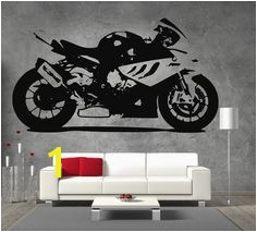 BMW S 1000RR Moto GP Racing Motor Bike Vinyl Sticker Wall Art