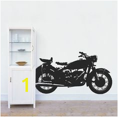 Classic Motorcycle Wall Decal • Vintage Motorbike Wall Decal • Garage Sticker • Home Interior Design