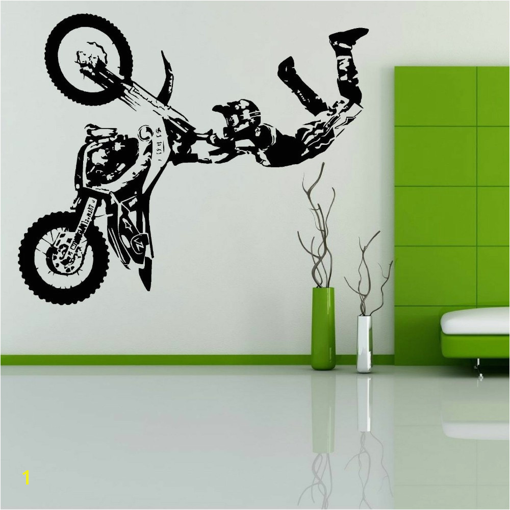 Free Shipping STUNT BIKE MOTORBIKE X GAMES MX MOTORCROSS DIRT BIKE Wall Art Room Sticker Decal Mural Decor