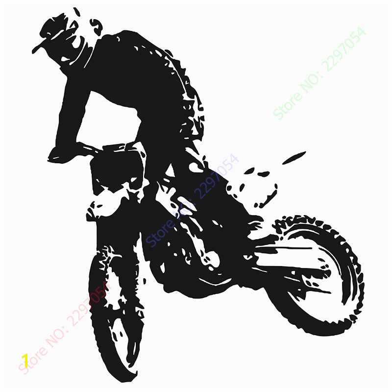 Motocross Moto Dirty Bike Motorbike Wall Art Sticker Decal Home DIY Decoration Decor Wall Mural Removable Room Decal Stickers in Wall Stickers from Home