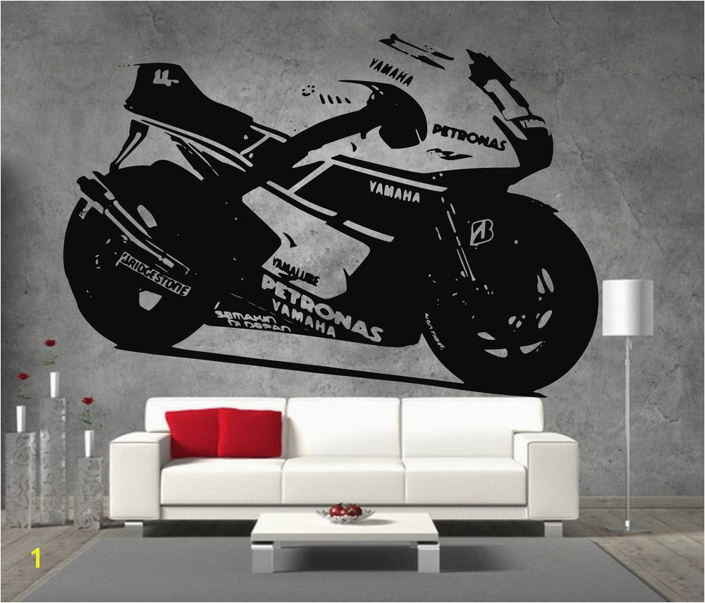 Motorbike Wall Murals Yamaha Petronas Moto Gp Racing Motor Bike Vinyl Sticker Wall