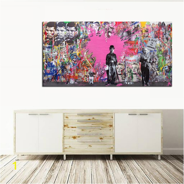 Boxing Muhammad Ali Wall Art Canvas Painting Love Is Answer Pop Art Graffiti Digital Prints on Canvas Posters Living Room Decor