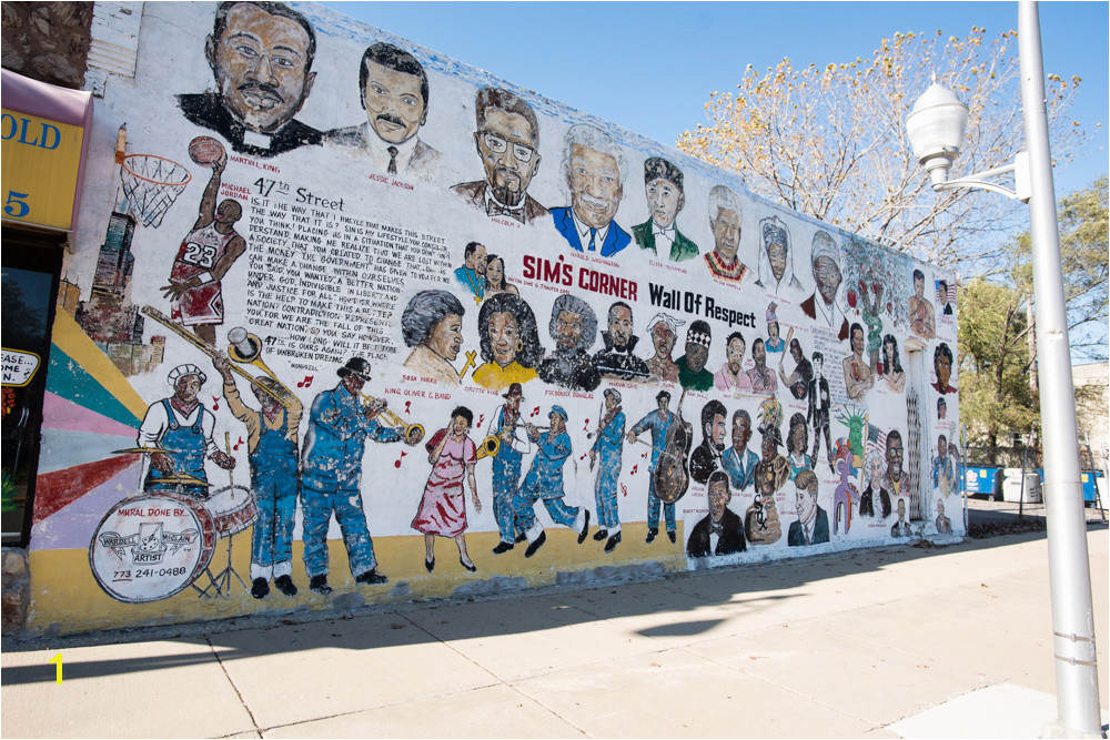 Sim s Corner Wall of Respect by Wardell McClain has been a fixture on the corner of 47th Street and Champlain Avenue for years Featuring a wide ranging mix