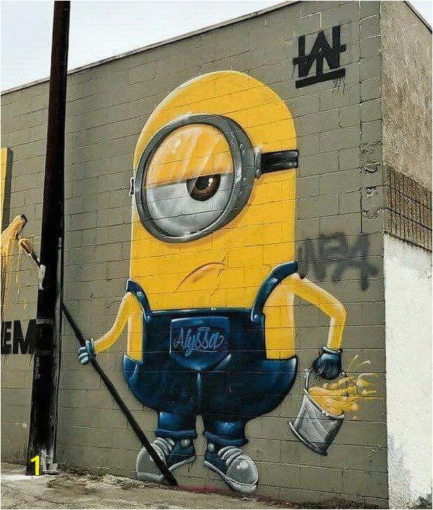 Minion Street Art