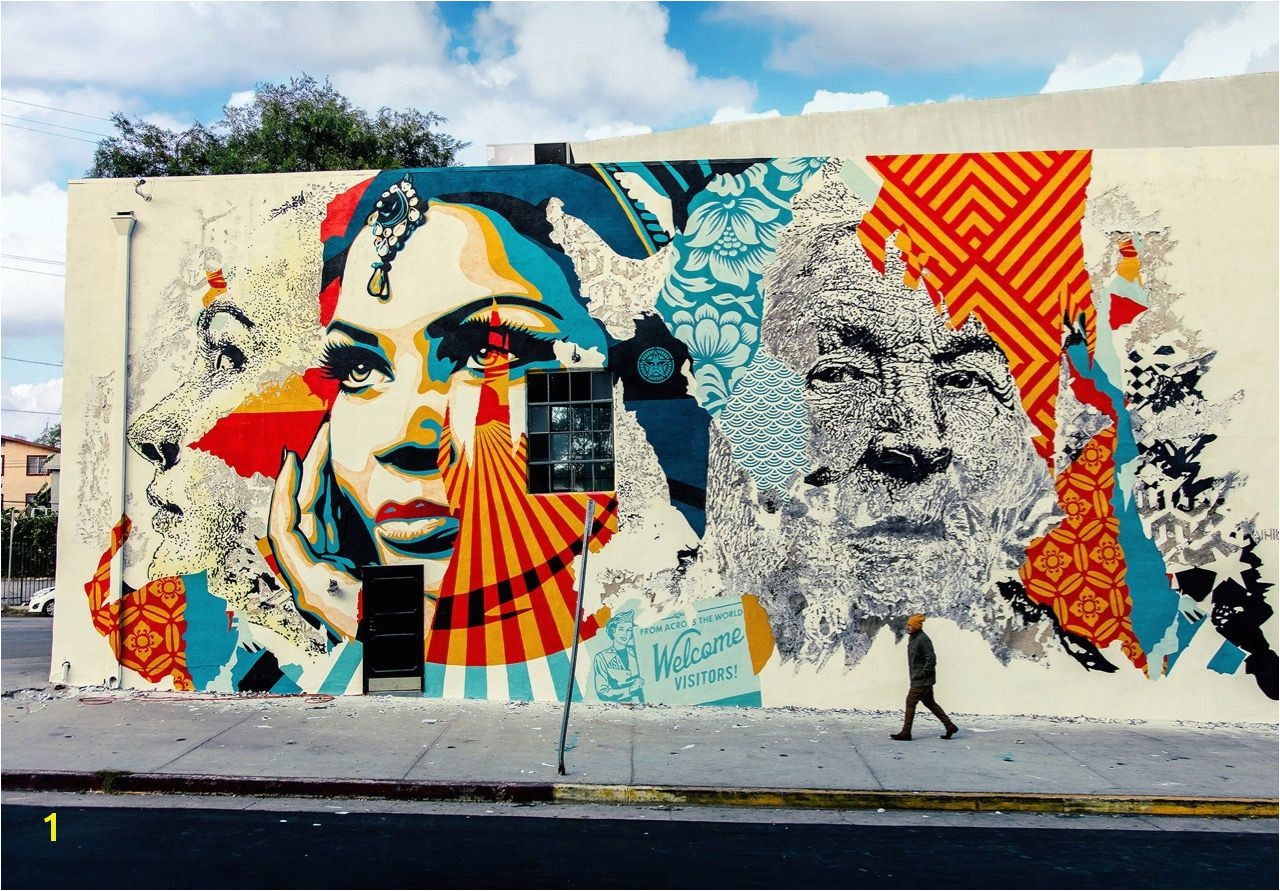 "Streets Vhils x Shepard Fairey – ""American Dreamers"" Los Angeles Last"