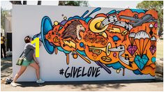 Interactive Social Media Graffiti Mural Los Angeles Graffiti Artist for Hire