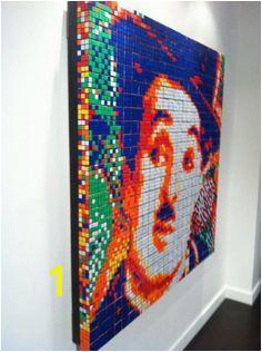 rubix cube art Rubiks Cube Algorithms Cube Puzzle Charlie Chaplin Mosaic Art