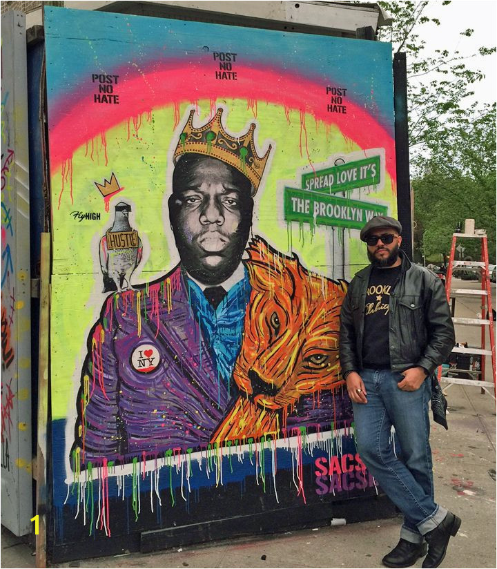 Biggie by SacSix in NYC Prospect Heights Brooklyn Nyc Hip Hop Street Art