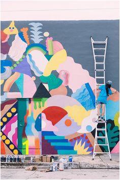 Zosen x Mina Hamada in Miami Mural Art Mural Painting Amazing Street Art
