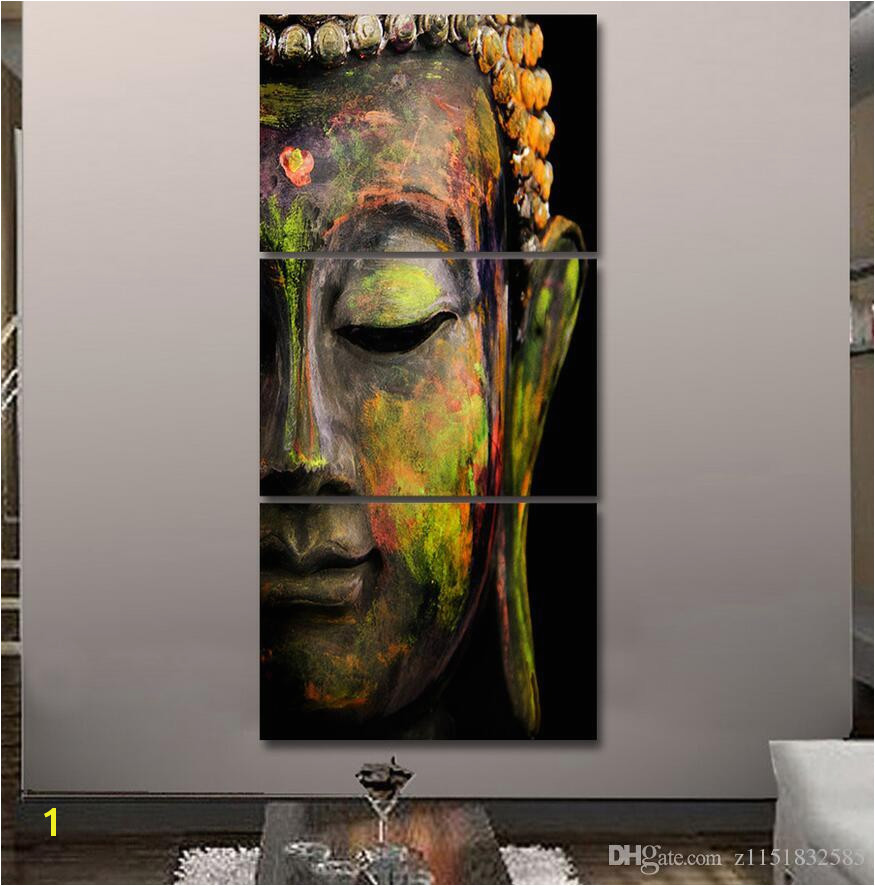 2019 2017 HD Printed Canvas Wall Art Buddha Meditation Painting Buddha Statue Wall Art Canvas Prints From Z $12 07