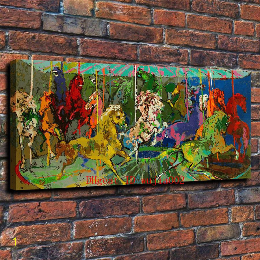 2019 Playground Carousel Canvas Painting Living Room Home Decor Modern Mural Art Oil Painting From Wujia002 $8 85