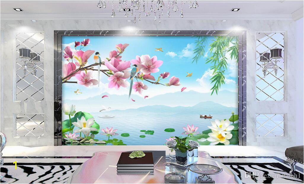 3d Wallpaper Custom Non Woven Mural Flower And Bird Rhyme Scenery Decor Painting Picture 3d Wall Muals Wall Paper For Walls 3 D Wallpapers Hd