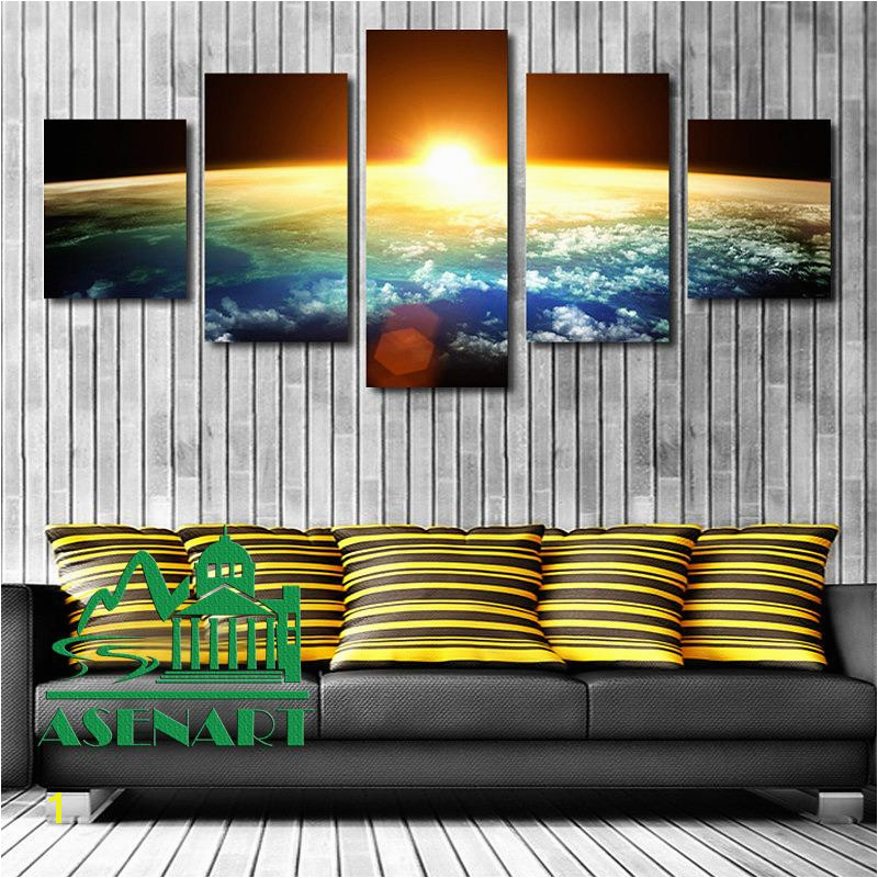 2019 Amazing Skyline Sunrise Painting Oil Canvas HD Print Picture Unframed Mural Art Modern Home Wall Decor From Asenart $22 31