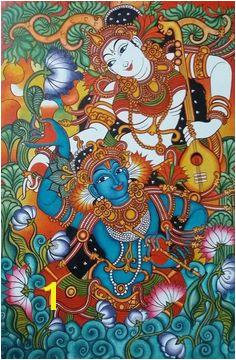 Kerala Mural Painting Madhubani Painting Madhubani Art Krishna Painting Krishna Art