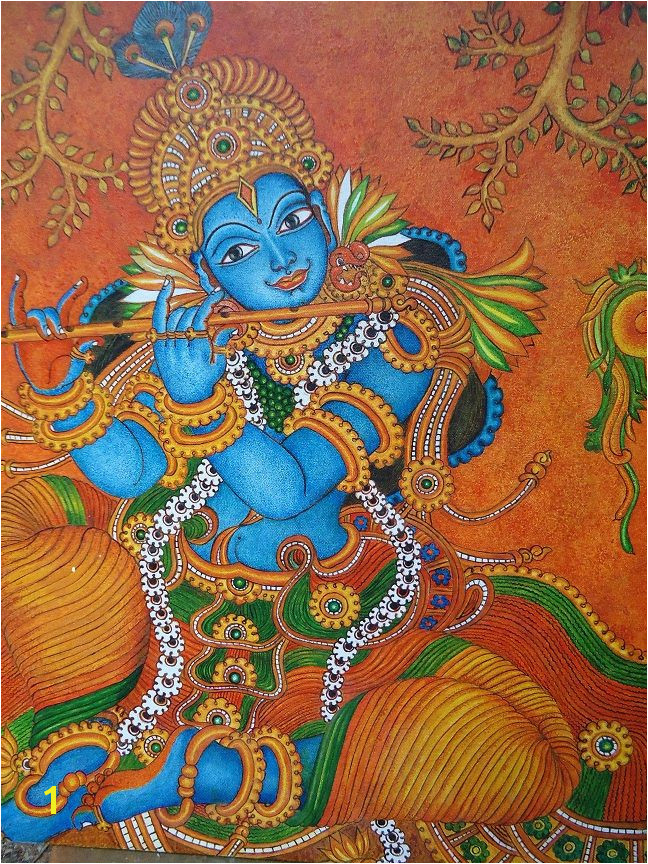 Mural Paintings Of Lord Krishna Krishna Mural Painting Krishna Kerala Murals
