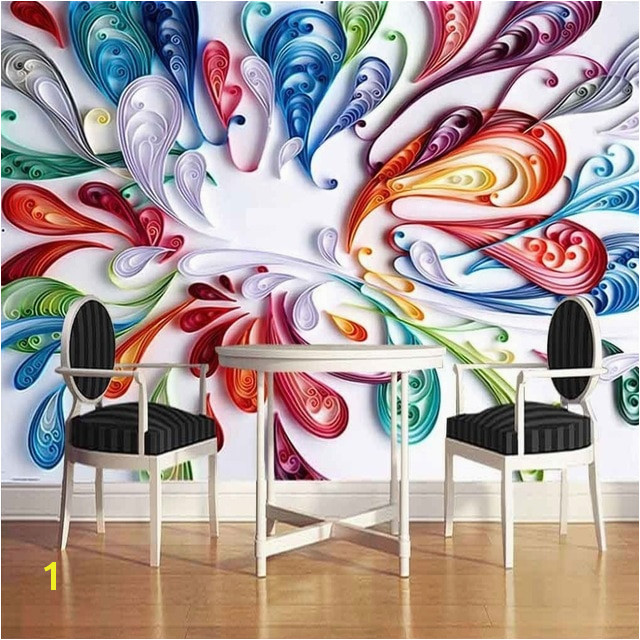 Custom Mural Wallpaper High Quality Modern Fashion Simple 3D Stereoscopic Graffiti Art Wall Painting Murals Papel Pintado Pared