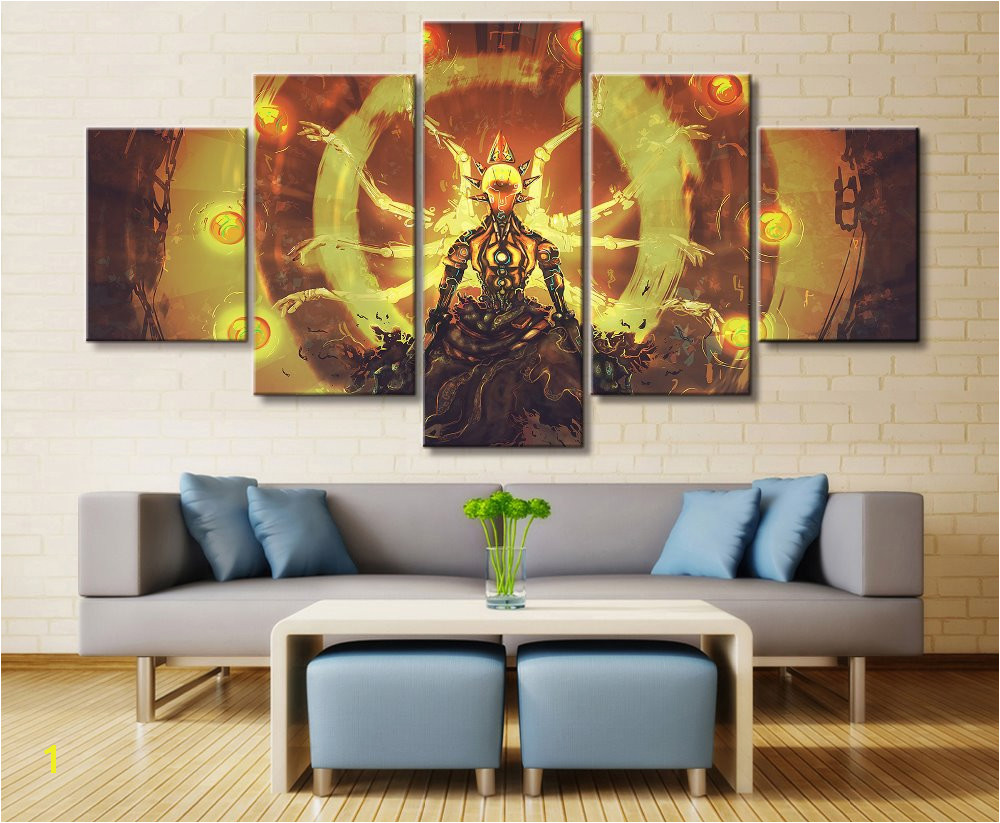 5 Panel Anime Original Landscape Canvas Printed Painting For Living Room Wall Art Home HD Decor Picture Artworks Poster