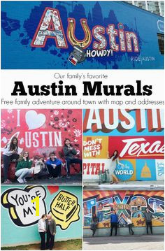 Austin Murals Wall Crawl around town with the family Fun places to see