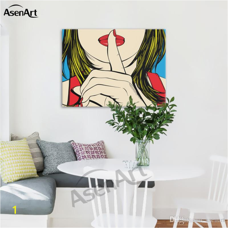 2019 Ssshhh Famous Design Deborah Azzopardi Girl Painting Oil Canvas Prints Modern Mural Picture For Home Living Hotel Cafe Wall Decor From Asenart