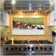 Horses In Water Decorative Tiles kitchen backsplash tile idea Colonial Kitchen Rustic Kitchen Kitchen