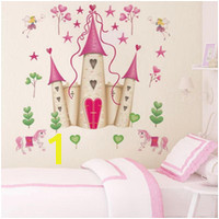 Wholesale baby girl wall murals online Removable DIY Princess Castle Star Fantasy Girls Bedroom Wall
