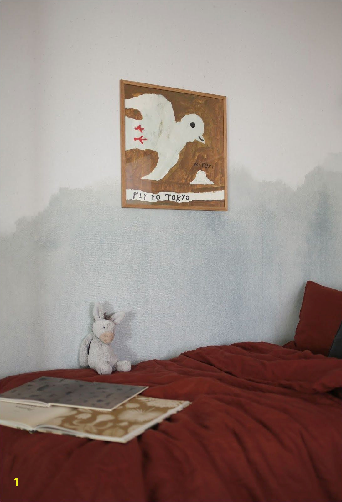 AMM blog Before and After in my Son s Room with Minted Wall Murals
