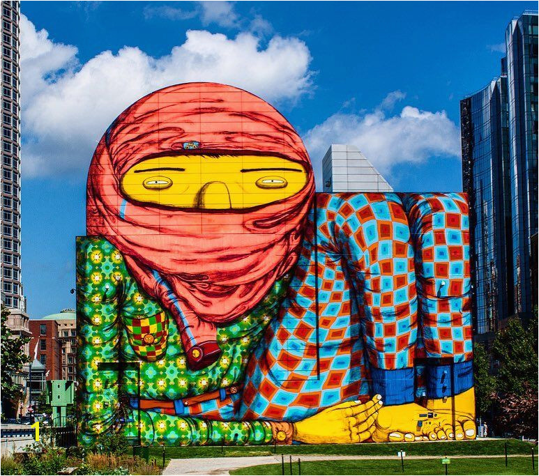 The work of Os Gemeos in Boston USA streetart streetartnews osgemeos by streetartnews