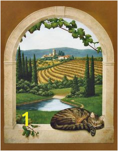 Tuscany mural by Jeff Raum Arched Windows Fake Windows Mural Painting Mural
