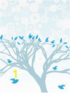 Blue Birds Perched Mural HerArtSheLoves Murals Your Way Living Room Murals Wall Murals