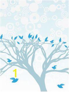 Blue Birds Perched Mural HerArtSheLoves Murals Your Way Living Room Murals Wall Murals