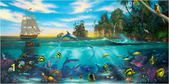 Paradise Found Mural David Miller Murals Your Way