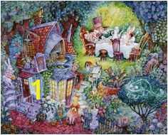 Painted by Bill Bell the Alice and the Hatter wall mural from Murals Your Way will add a distinctive touch to any room