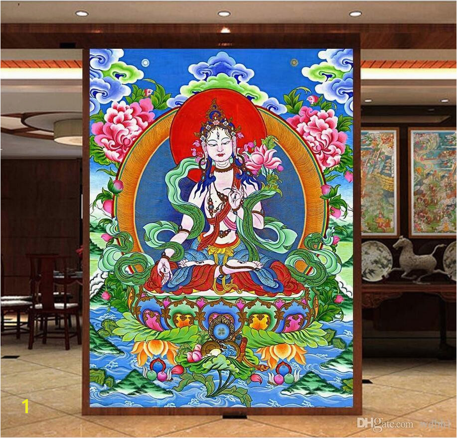 3d Room Wallpaper Custom Non Woven Mural Original Innovation Thangka HD Big Picture White Tara Guanyin Sitting Lotus Wall Papers Free Widescreen