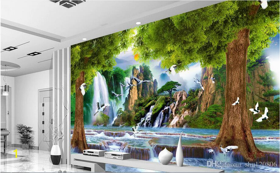 3d wallpaper custom photo non woven mural Water the tree crane decoration painting 3d wall